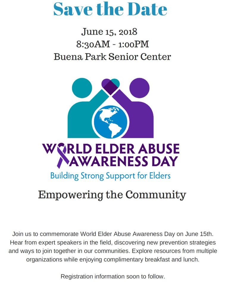 World Elder Abuse 2018